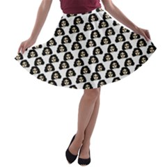 Angry Girl Pattern A Line Skater Skirt