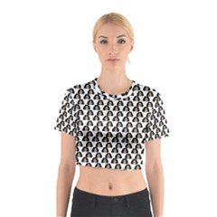 Angry Girl Pattern Cotton Crop Top