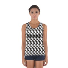 Angry Girl Pattern Sport Tank Top