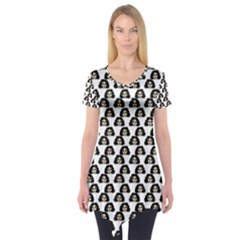 Angry Girl Pattern Short Sleeve Tunic