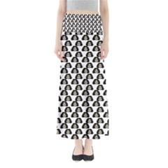 Angry Girl Pattern Full Length Maxi Skirt