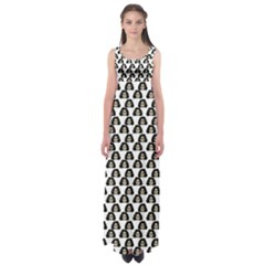 Angry Girl Pattern Empire Waist Maxi Dress