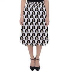 Angry Girl Pattern Folding Skater Skirt