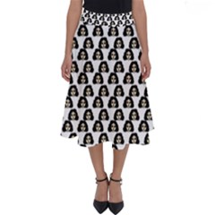 Angry Girl Pattern Perfect Length Midi Skirt