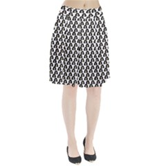 Angry Girl Pattern Pleated Skirt