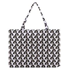Angry Girl Pattern Zipper Medium Tote Bag