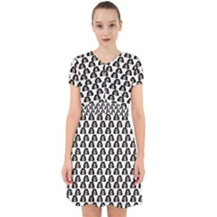 Angry Girl Pattern Adorable In Chiffon Dress