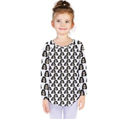 Angry Girl Pattern Kids  Long Sleeve Tee