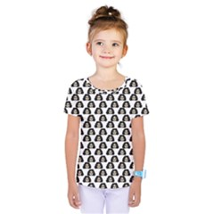 Angry Girl Pattern Kids  One Piece Tee