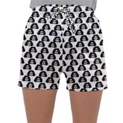 Angry Girl Pattern Sleepwear Shorts