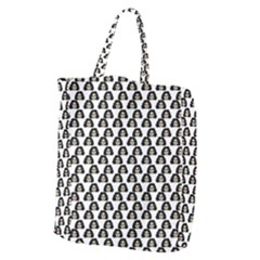 Angry Girl Pattern Giant Grocery Zipper Tote