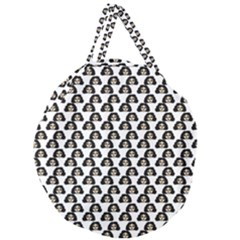 Angry Girl Pattern Giant Round Zipper Tote
