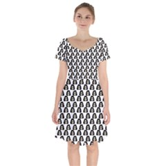 Angry Girl Pattern Short Sleeve Bardot Dress