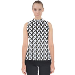 Angry Girl Pattern Shell Top