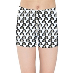 Angry Girl Pattern Kids Sports Shorts