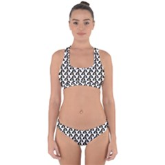 Angry Girl Pattern Cross Back Hipster Bikini Set