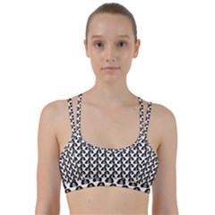 Angry Girl Pattern Line Them Up Sports Bra