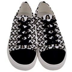 Angry Girl Pattern Men s Low Top Canvas Sneakers