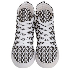 Angry Girl Pattern Women s Hi Top Skate Sneakers