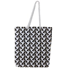 Angry Girl Pattern Full Print Rope Handle Tote (large)