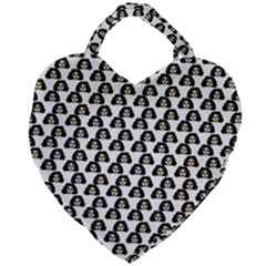 Angry Girl Pattern Giant Heart Shaped Tote
