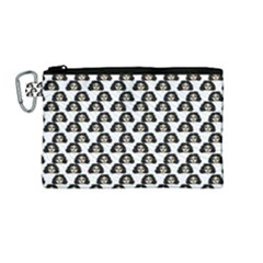 Angry Girl Pattern Canvas Cosmetic Bag (medium)