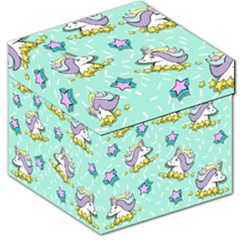 Magical Happy Unicorn And Stars Storage Stool 12