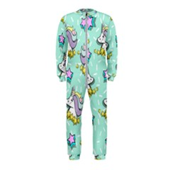 Magical Happy Unicorn And Stars Onepiece Jumpsuit (kids)