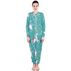 Magical Flying Unicorn Pattern Onepiece Jumpsuit (ladies)