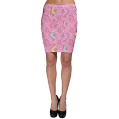 Unicorns Eating Ice Cream Pattern Bodycon Skirt