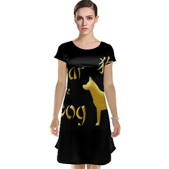 Year Of The Dog   Chinese New Year Cap Sleeve Nightdress