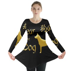 Year Of The Dog   Chinese New Year Long Sleeve Tunic