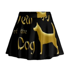 Year Of The Dog   Chinese New Year Mini Flare Skirt