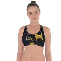 Year Of The Dog   Chinese New Year Cross String Back Sports Bra