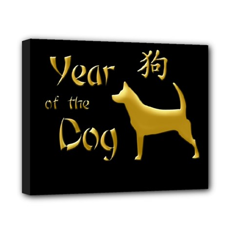 Year Of The Dog   Chinese New Year Canvas 10  X 8