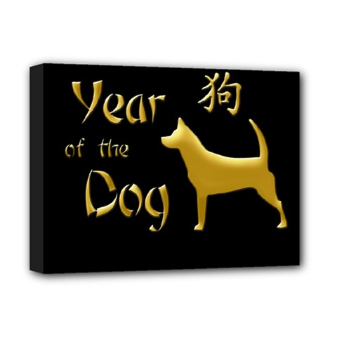 Year Of The Dog   Chinese New Year Deluxe Canvas 16  X 12