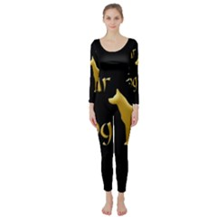 Year Of The Dog   Chinese New Year Long Sleeve Catsuit