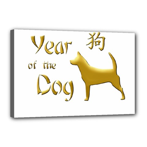 Year Of The Dog   Chinese New Year Canvas 18  X 12