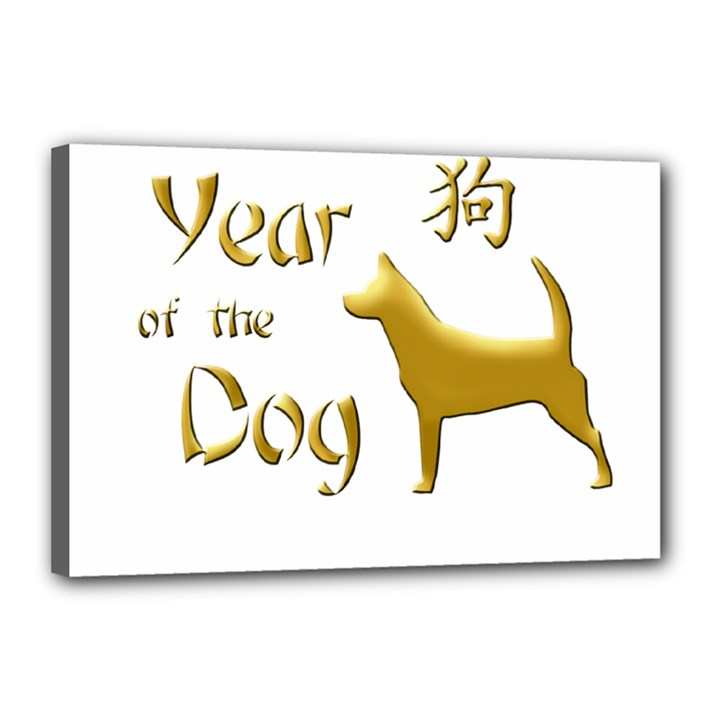 Year of the Dog - Chinese New Year Canvas 18  x 12