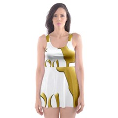 Year Of The Dog   Chinese New Year Skater Dress Swimsuit