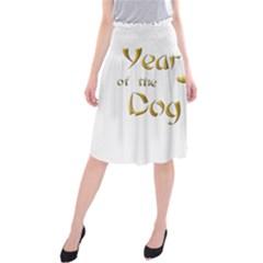 Year Of The Dog   Chinese New Year Midi Beach Skirt