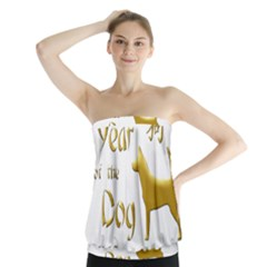 Year Of The Dog   Chinese New Year Strapless Top