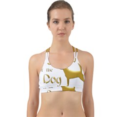 Year Of The Dog   Chinese New Year Back Web Sports Bra