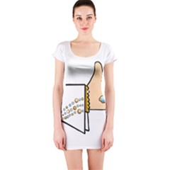 Elvis   Like Short Sleeve Bodycon Dress