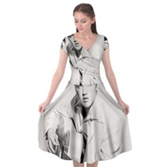 Elvis Presley Cap Sleeve Wrap Front Dress