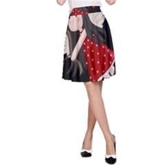 Cupid Girl A Line Skirt