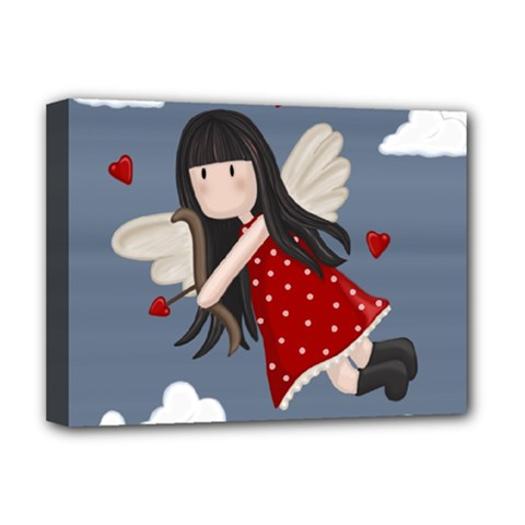 Cupid Girl Deluxe Canvas 16  X 12