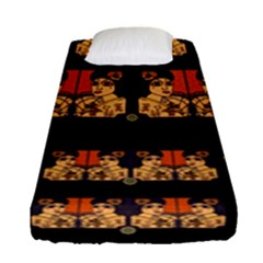Geisha With Friends In Lotus Garden Having A Calm Evening Fitted Sheet (single Size)