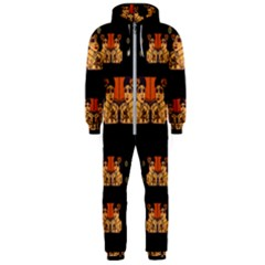 Geisha With Friends In Lotus Garden Having A Calm Evening Hooded Jumpsuit (men)