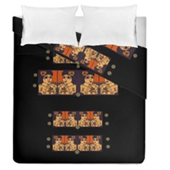 Geisha With Friends In Lotus Garden Having A Calm Evening Duvet Cover Double Side (queen Size)